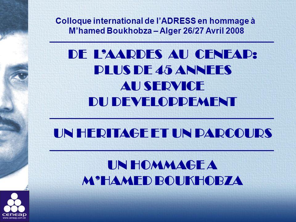 Colloque international de l'ADRESS en hommage à