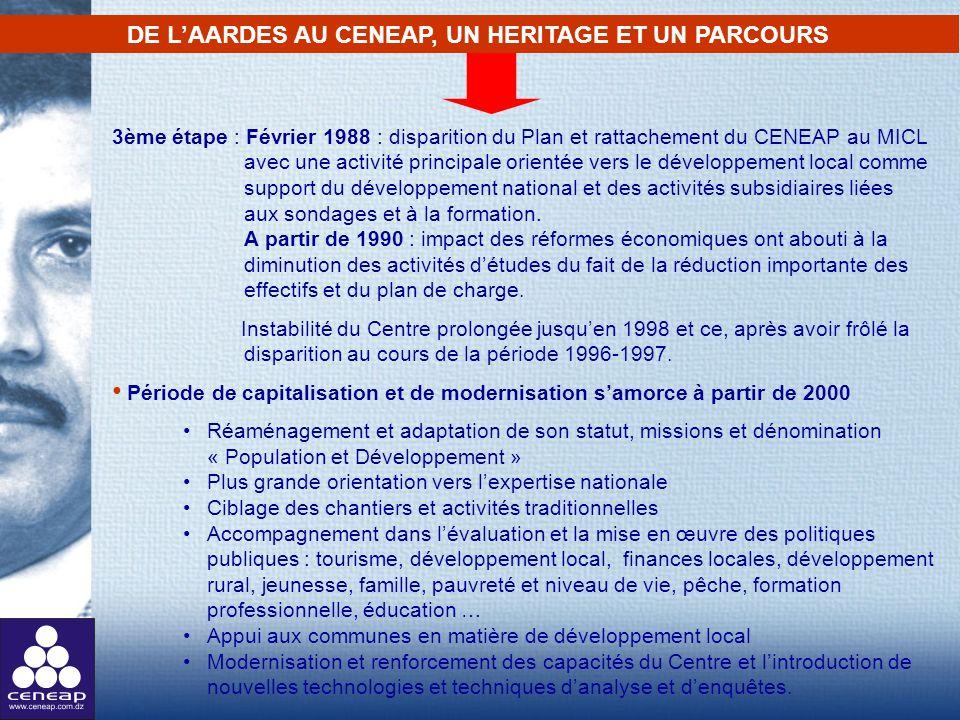 DE L'AARDES AU CENEAP, UN HERITAGE ET UN PARCOURS