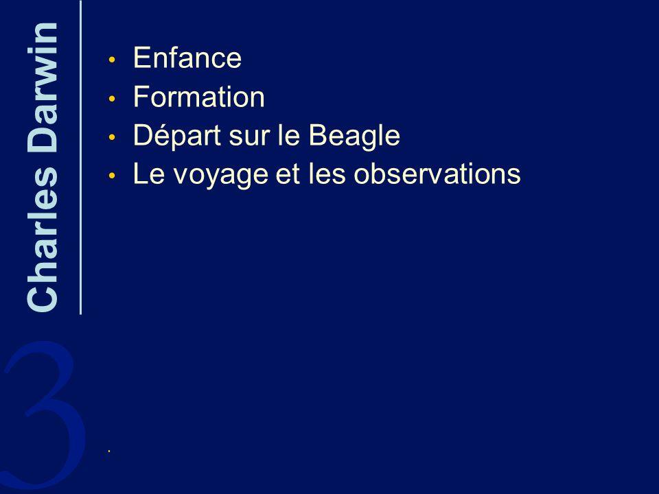 3 Charles Darwin Enfance Formation Départ sur le Beagle