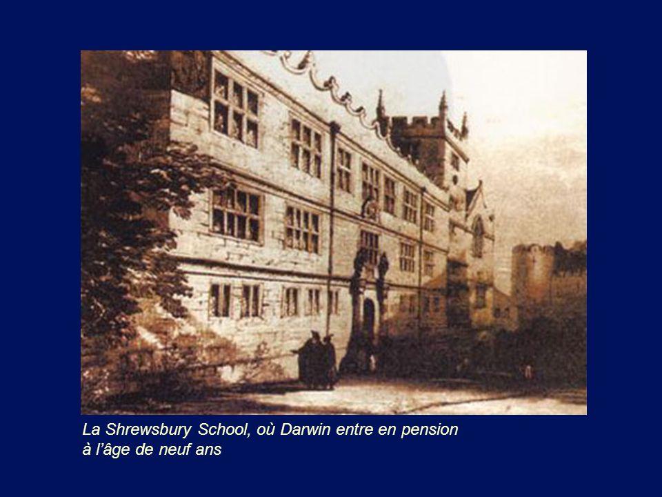 La Shrewsbury School, où Darwin entre en pension à l'âge de neuf ans