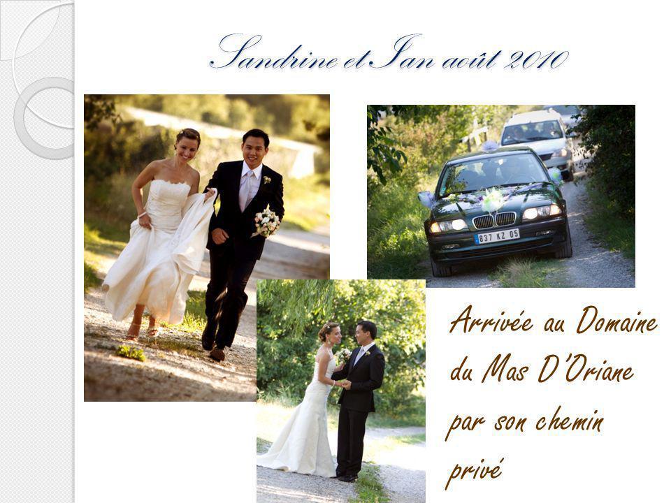 Sandrine et Ian août 2010 Arrivée au Domaine du Mas D'Oriane par son chemin privé
