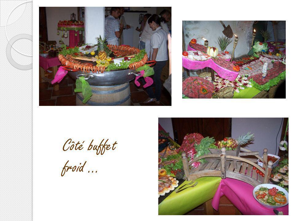 Côté buffet froid …
