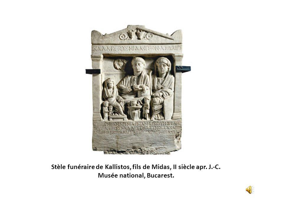 Stèle funéraire de Kallistos, fils de Midas, II siècle apr. J. -C