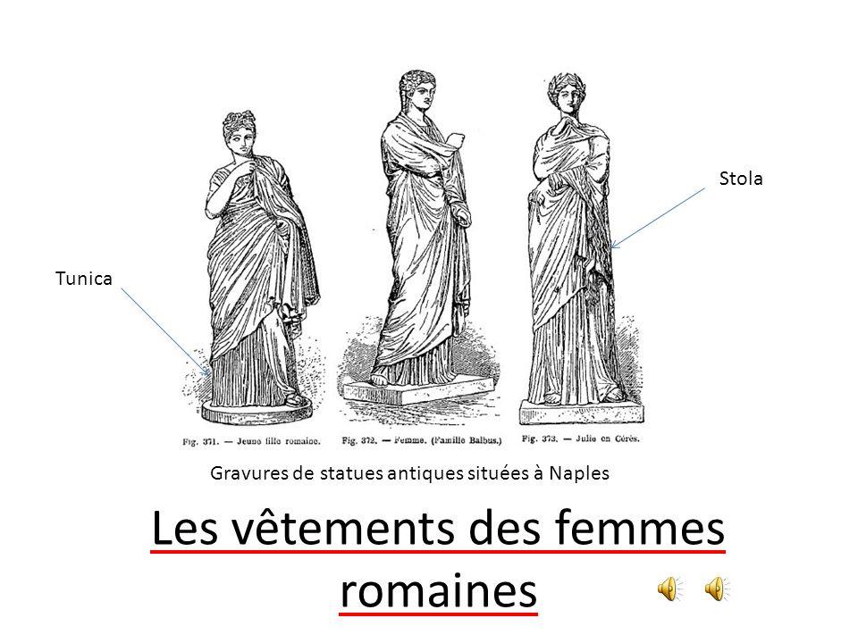 Les vêtements des femmes romaines