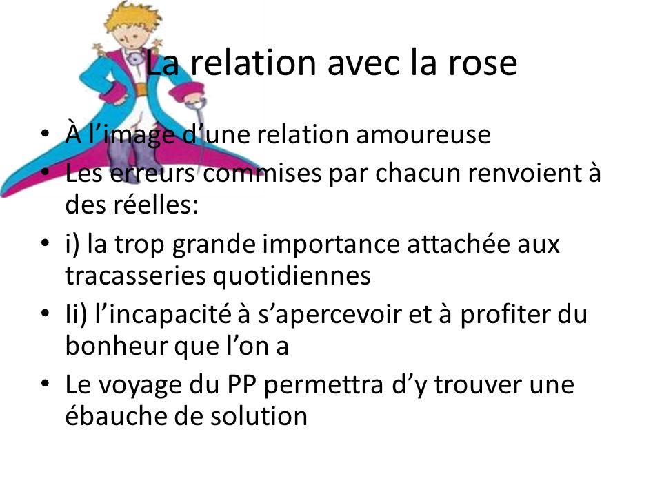 La relation avec la rose