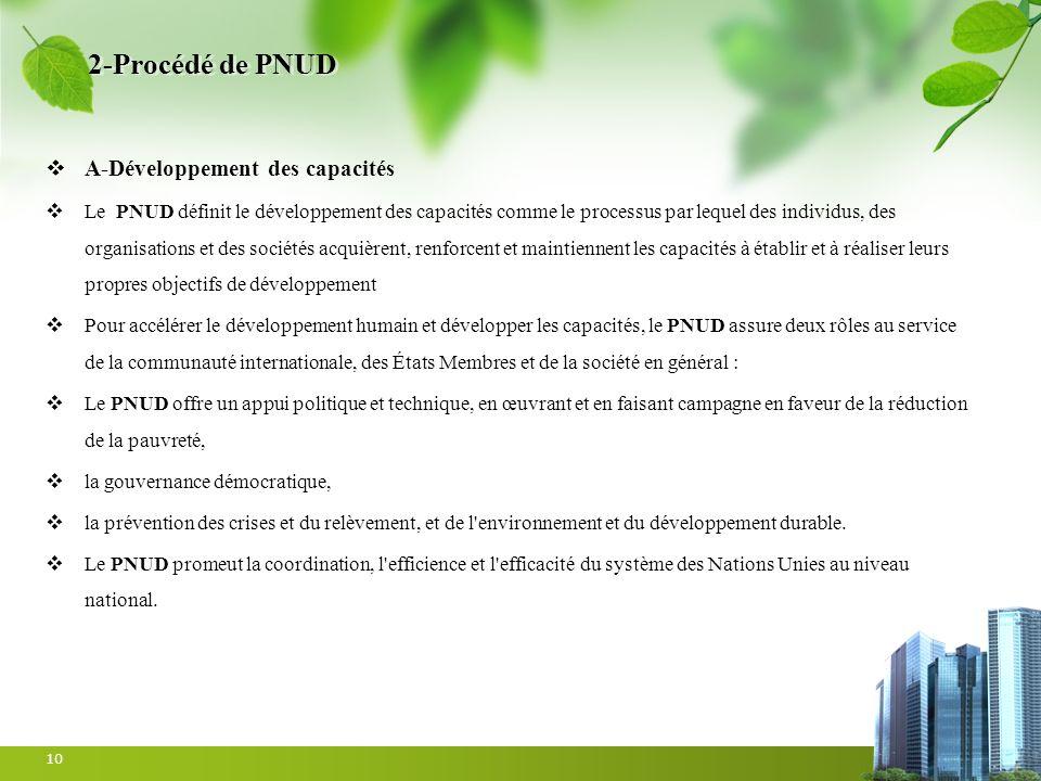 2-Procédé de PNUD A-Développement des capacités