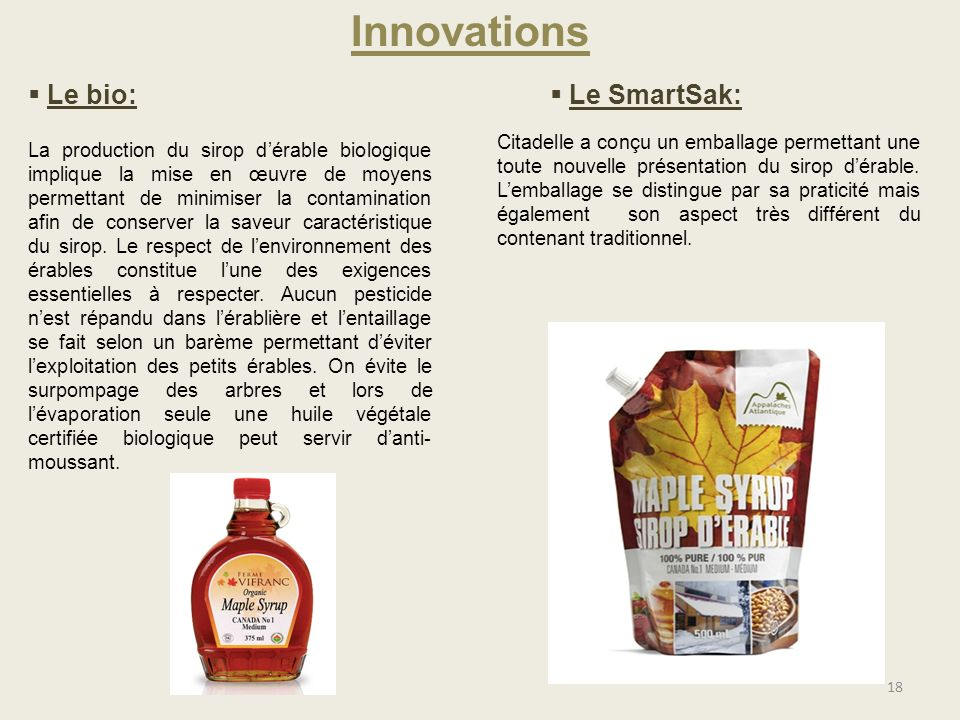 Innovations Le bio: Le SmartSak: