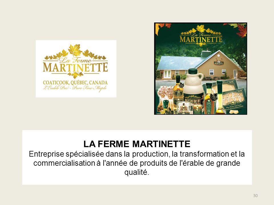 LA FERME MARTINETTE