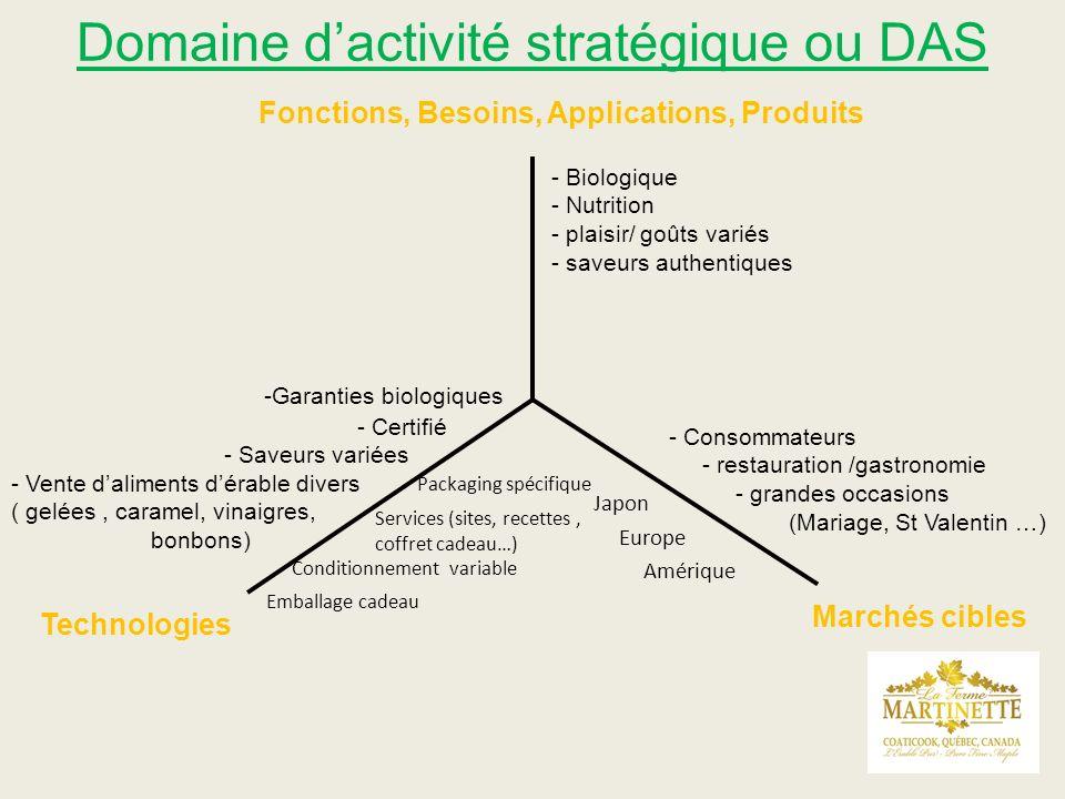 Domaine d'activité stratégique ou DAS