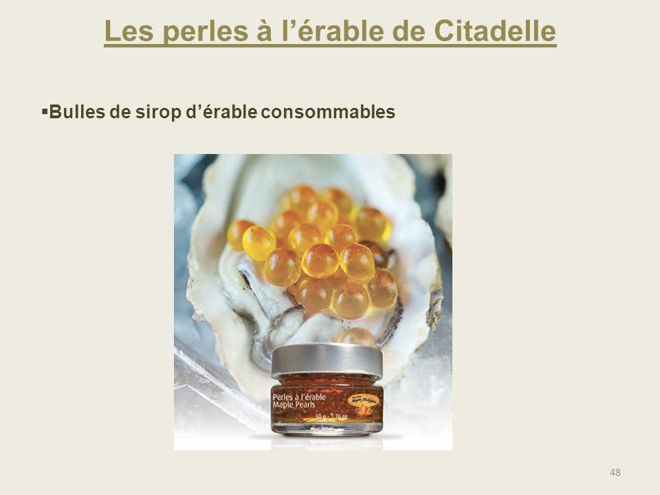 Les perles à l'érable de Citadelle