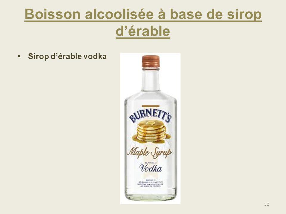Boisson alcoolisée à base de sirop d'érable