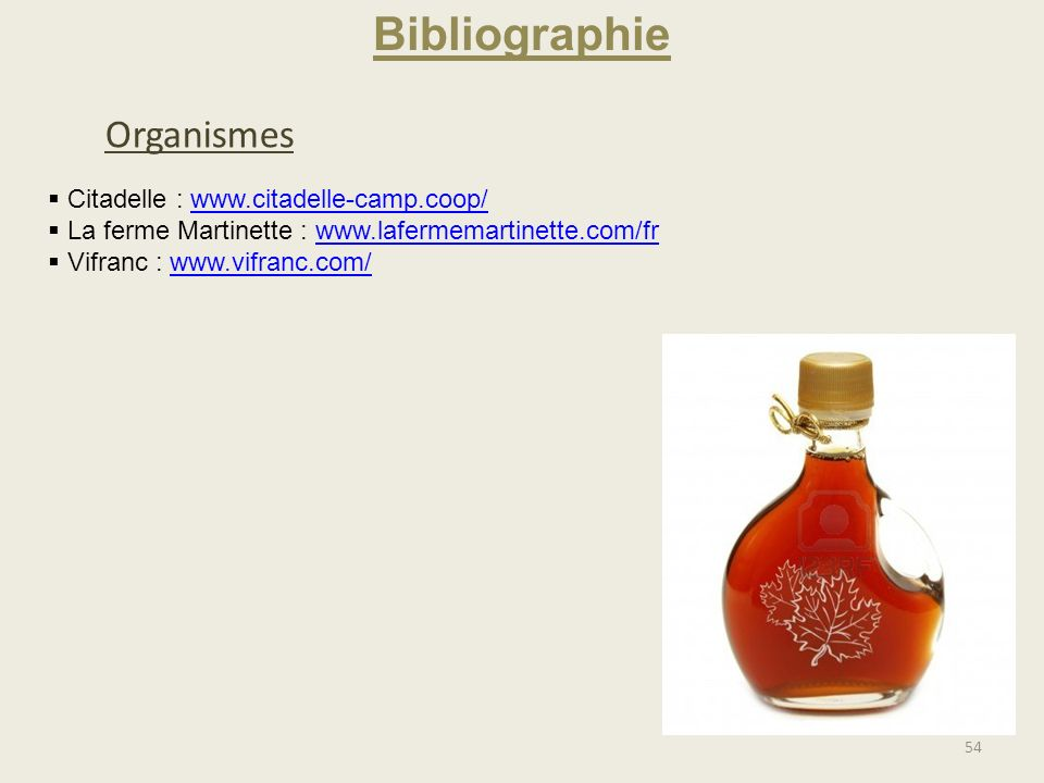 Bibliographie Organismes Citadelle : www.citadelle-camp.coop/