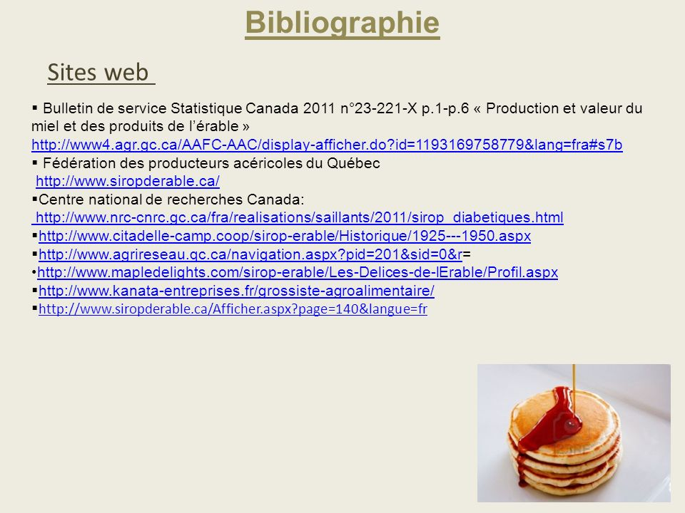 Bibliographie Sites web