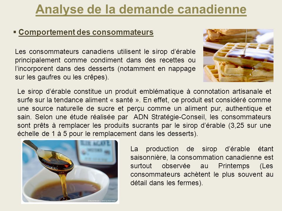 Analyse de la demande canadienne