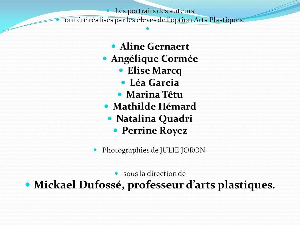 Mickael Dufossé, professeur d'arts plastiques.
