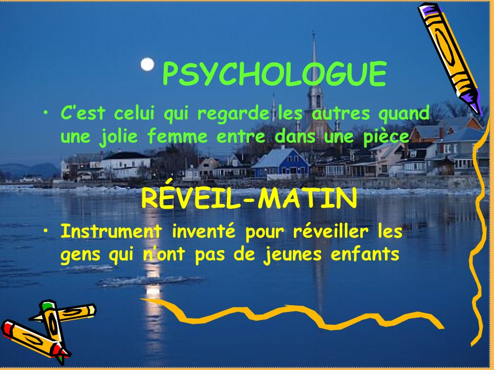 PSYCHOLOGUE RÉVEIL-MATIN