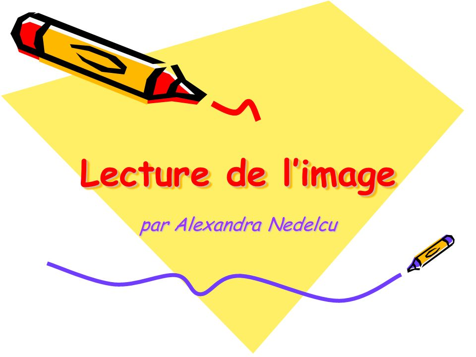Lecture de l'image par Alexandra Nedelcu