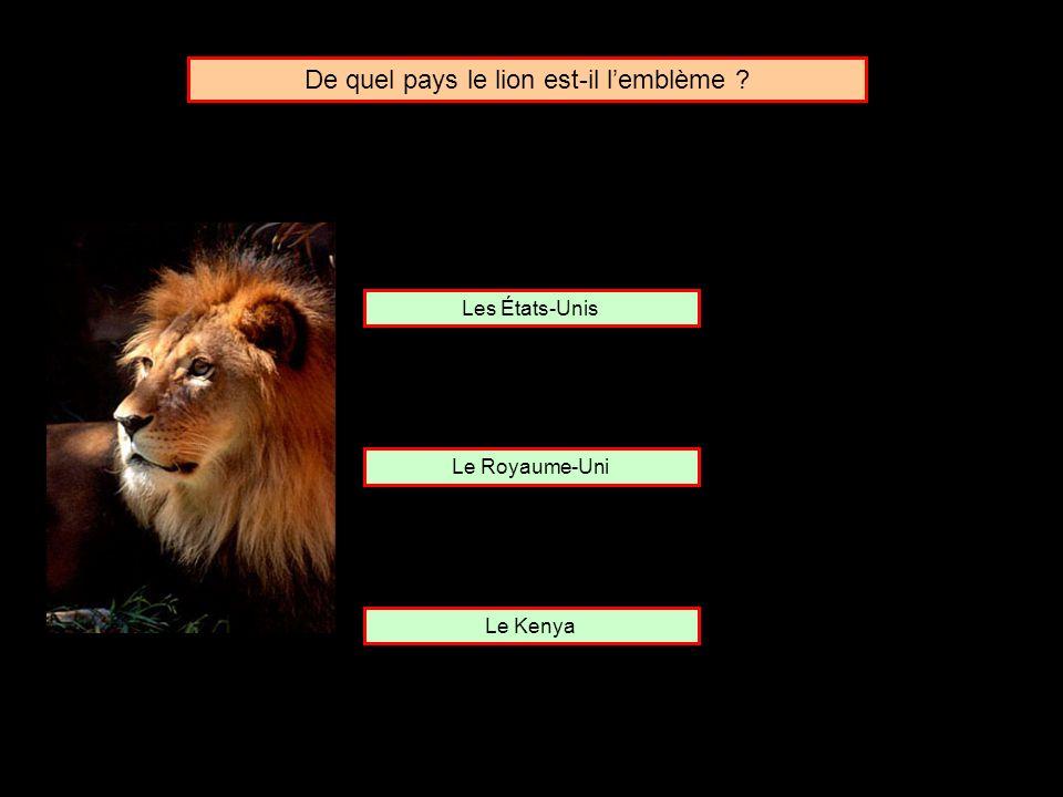 De quel pays le lion est-il l'emblème
