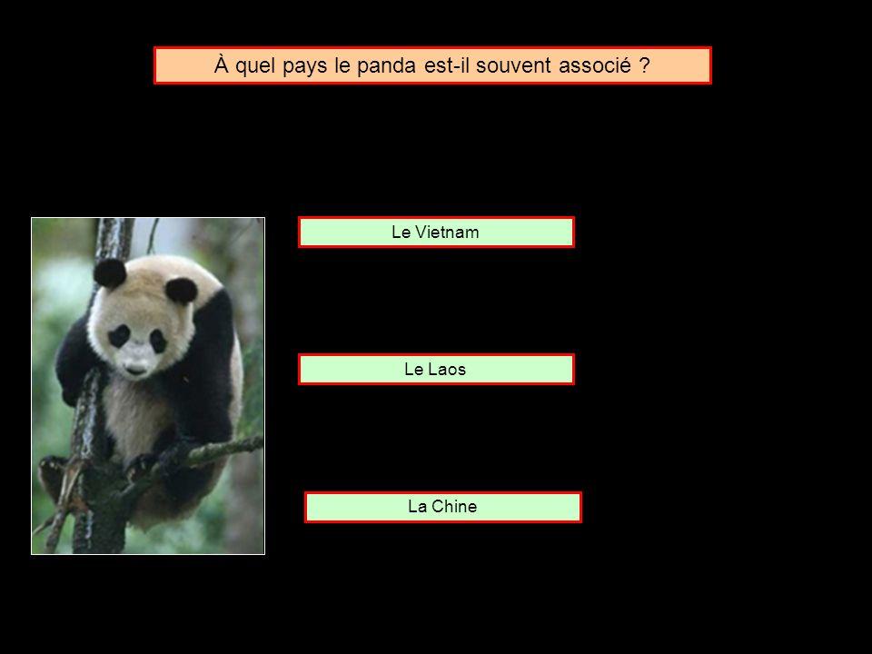 À quel pays le panda est-il souvent associé