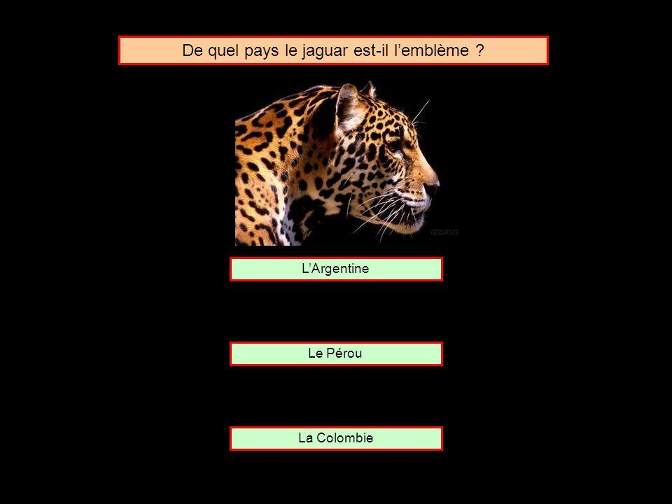 De quel pays le jaguar est-il l'emblème