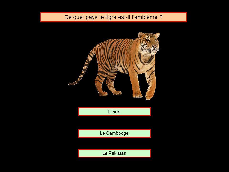 De quel pays le tigre est-il l'emblème