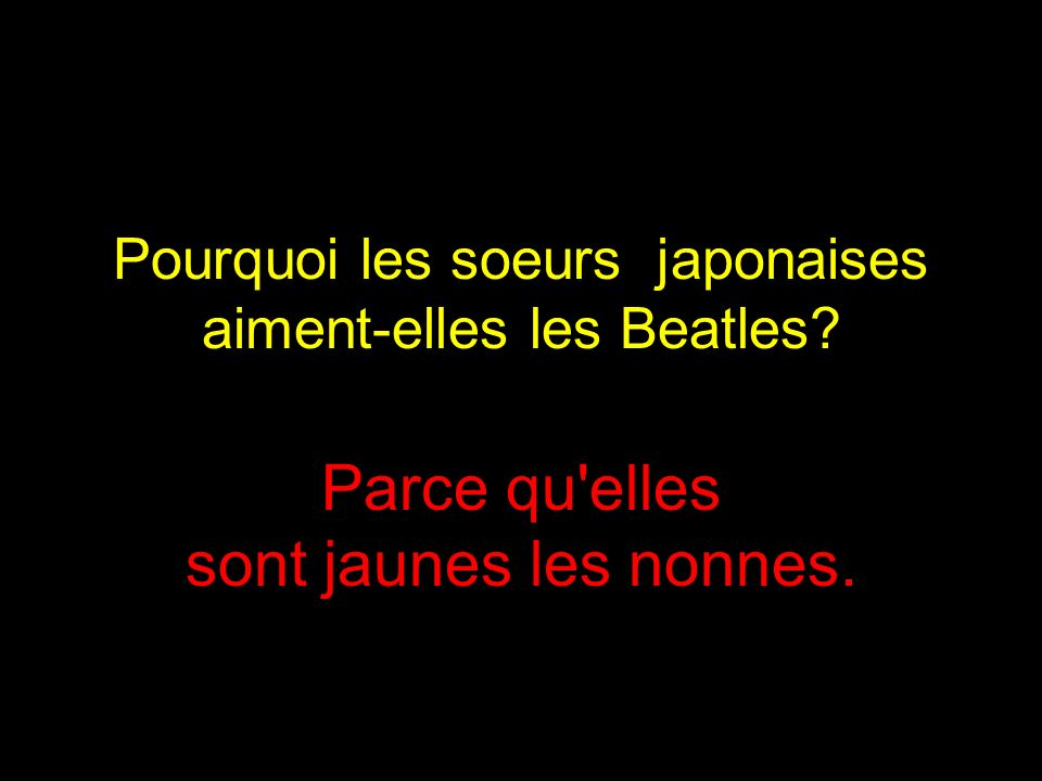 Pourquoi les soeurs japonaises aiment-elles les Beatles