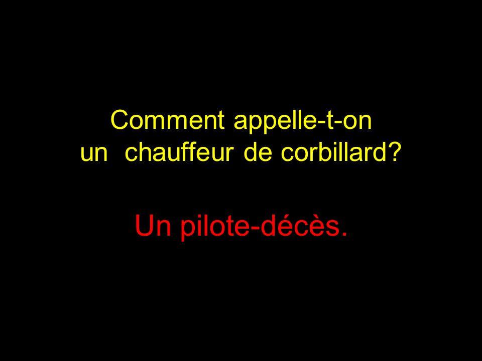 Comment appelle-t-on un chauffeur de corbillard
