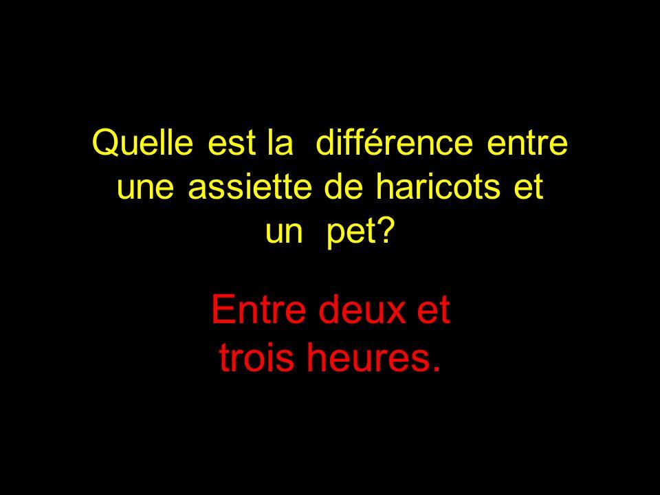 Quelle est la différence entre une assiette de haricots et un pet