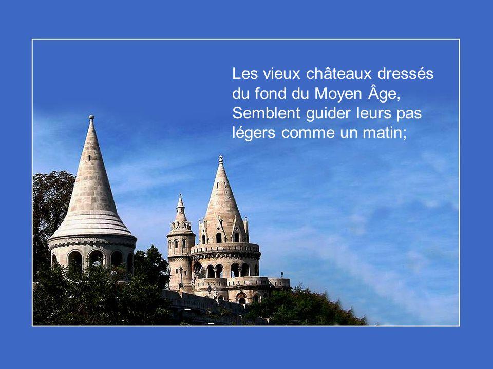 Les vieux châteaux dressés du fond du Moyen Âge,