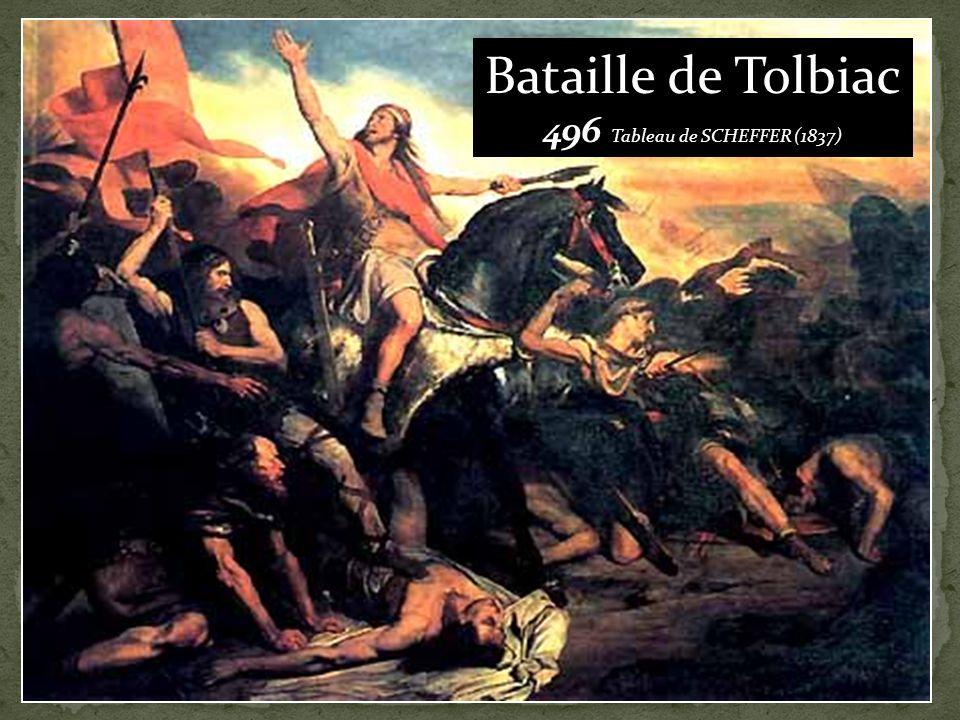 Bataille de Tolbiac 496 Tableau de SCHEFFER (1837)