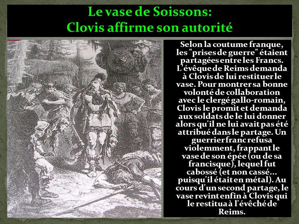 Clovis affirme son autorité