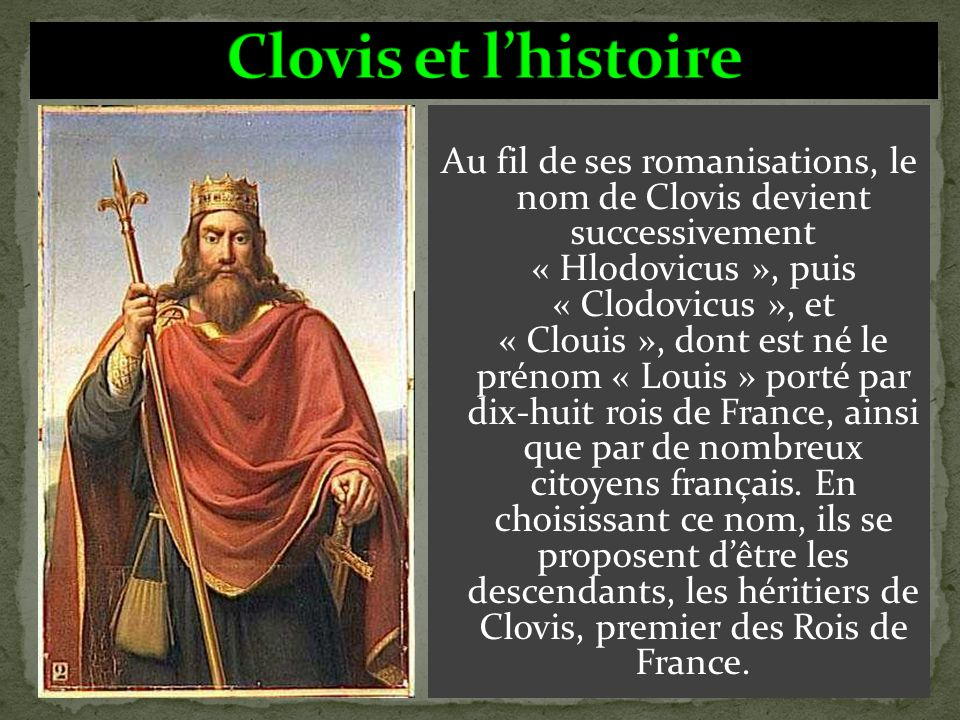 Clovis et l'histoire