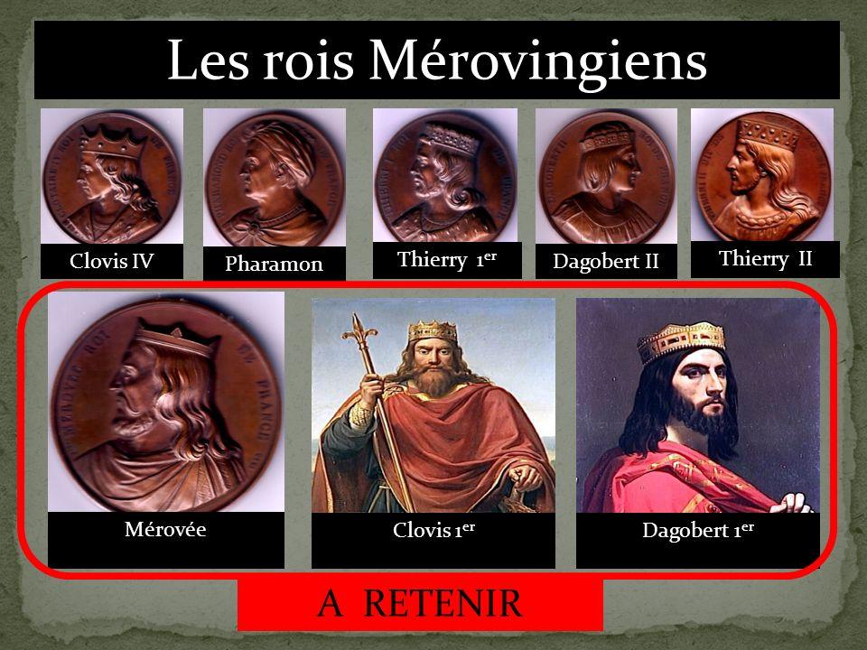 Les rois Mérovingiens A RETENIR Clovis IV Pharamon Thierry 1er