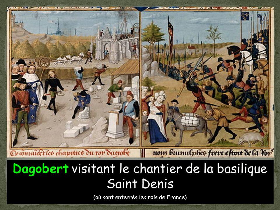Dagobert visitant le chantier de la basilique Saint Denis