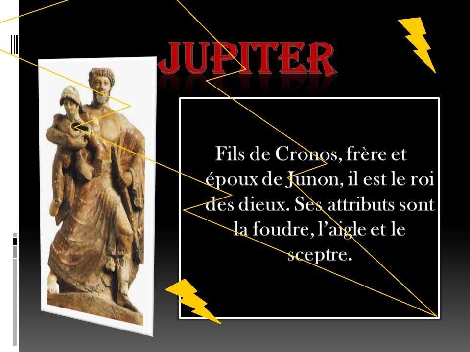 JUPITER Fils de Cronos, frère et époux de Junon, il est le roi des dieux.