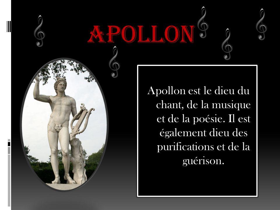APOLLON Apollon est le dieu du chant, de la musique et de la poésie.