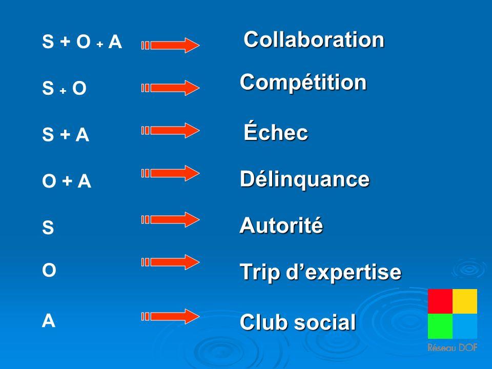 Collaboration Compétition Échec Délinquance Autorité Trip d'expertise