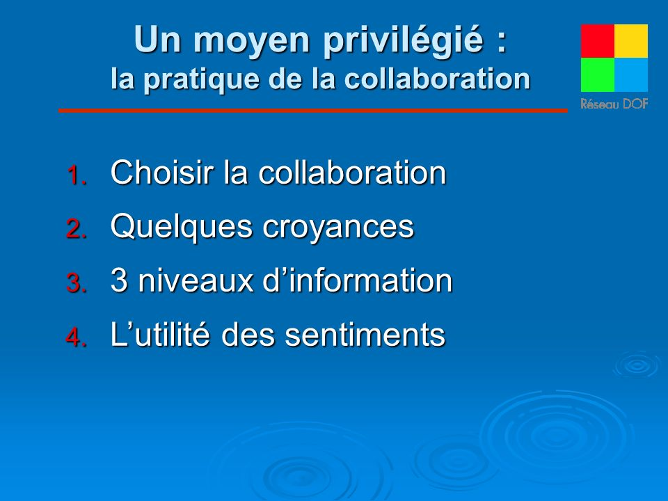 la pratique de la collaboration