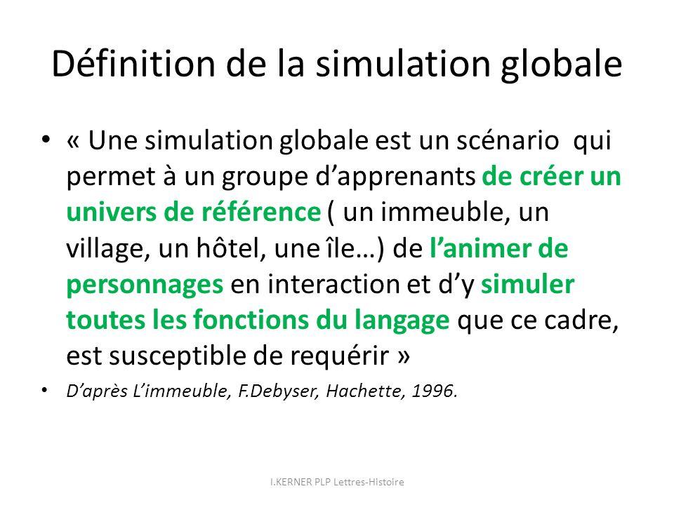 Définition de la simulation globale