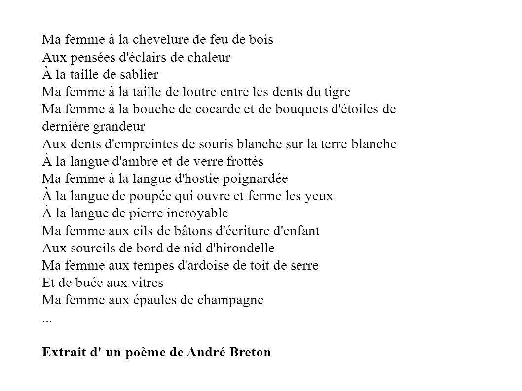 Extrait d un poème de André Breton