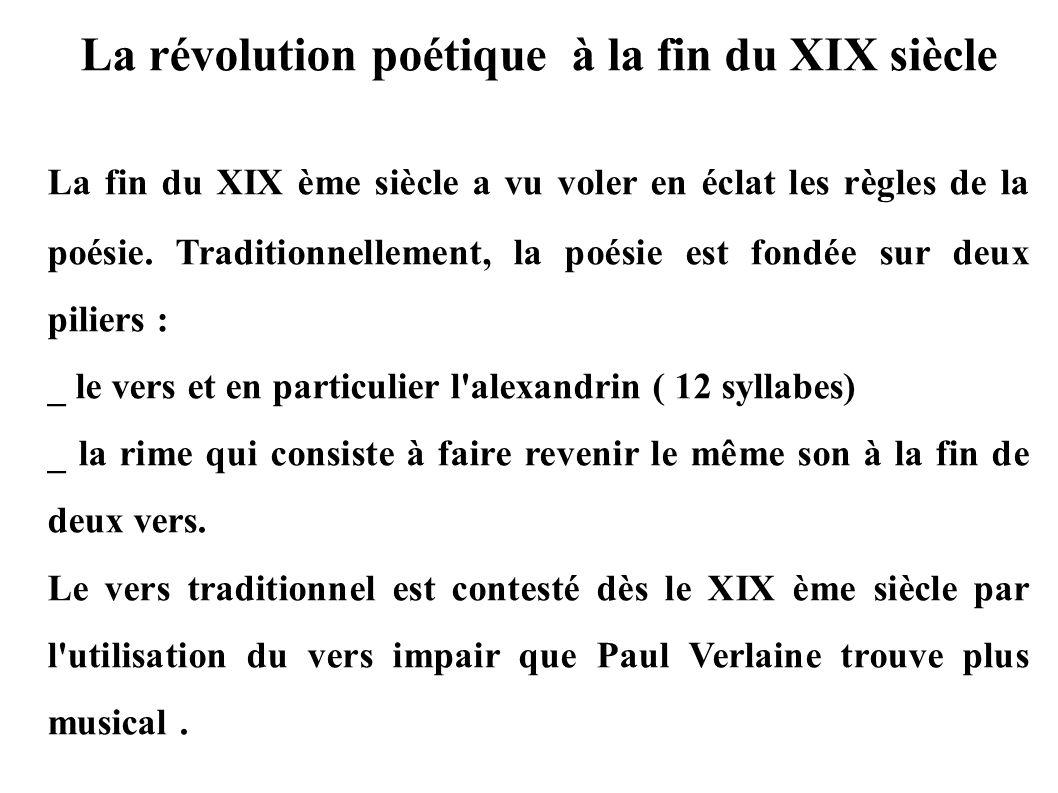La révolution poétique à la fin du XIX siècle