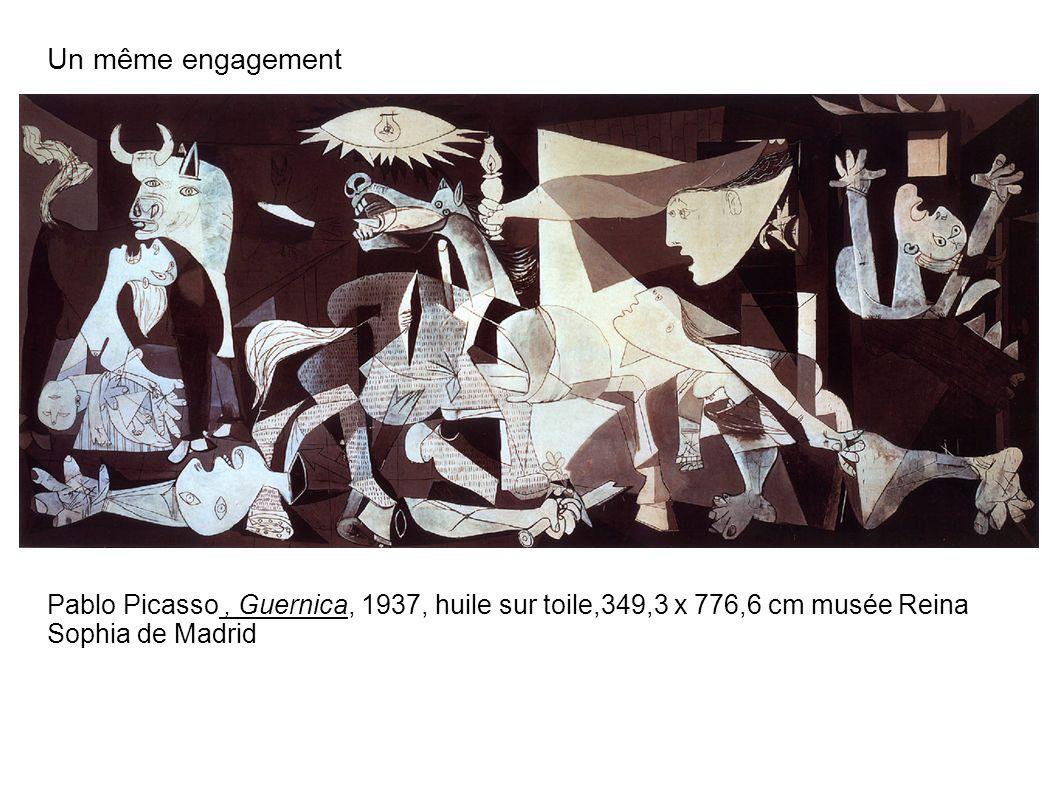 Un même engagement Pablo Picasso , Guernica, 1937, huile sur toile,349,3 x 776,6 cm musée Reina Sophia de Madrid.