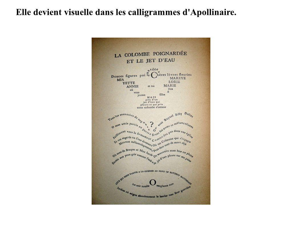 Elle devient visuelle dans les calligrammes d Apollinaire.