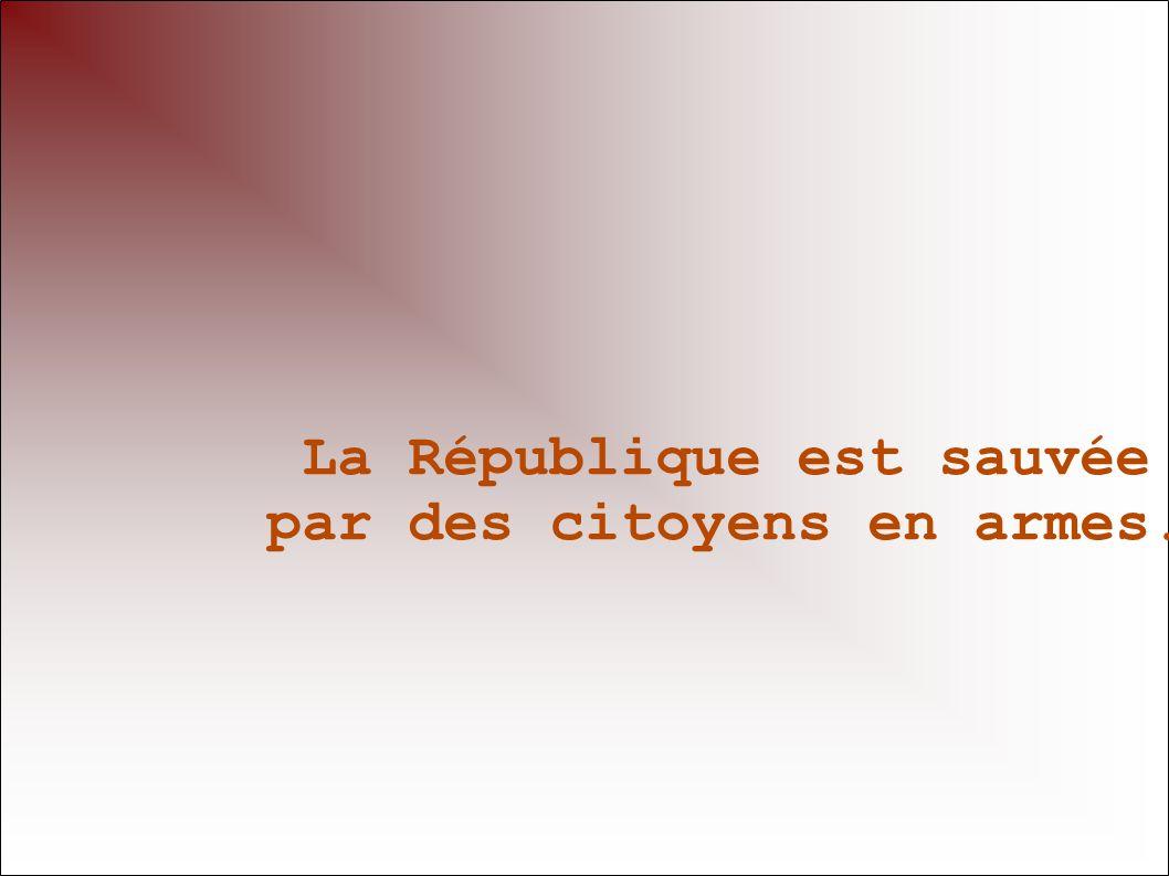 La République est sauvée
