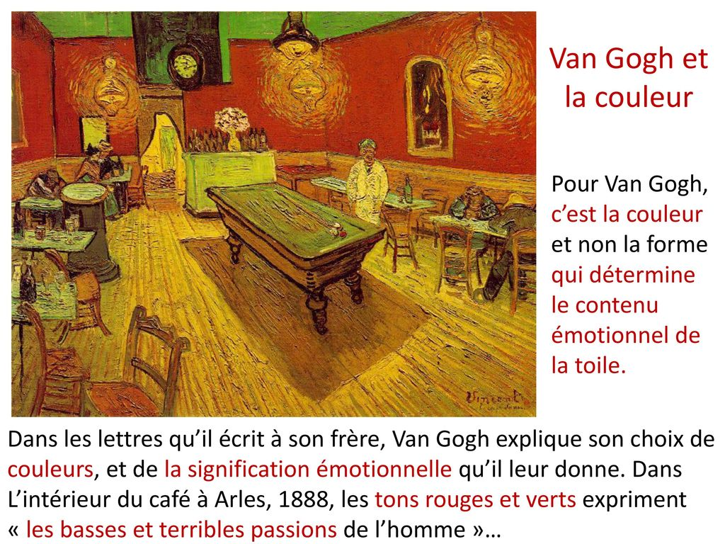 4 4 3 le post impressionnisme ppt t l charger - La chambre jaune van gogh ...