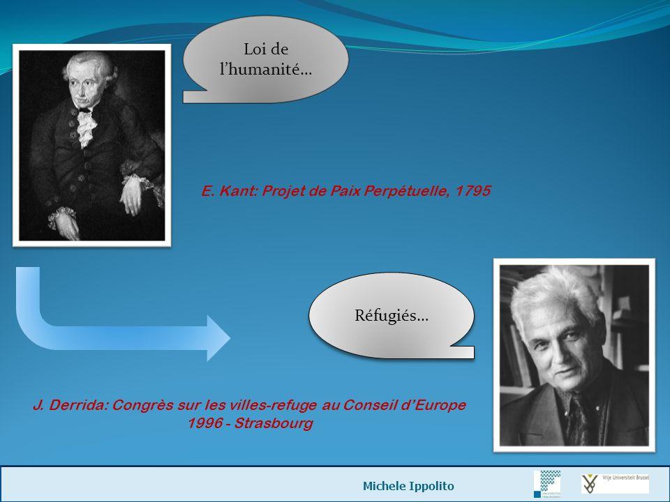 J. Derrida: Congrès sur les villes-refuge au Conseil d'Europe