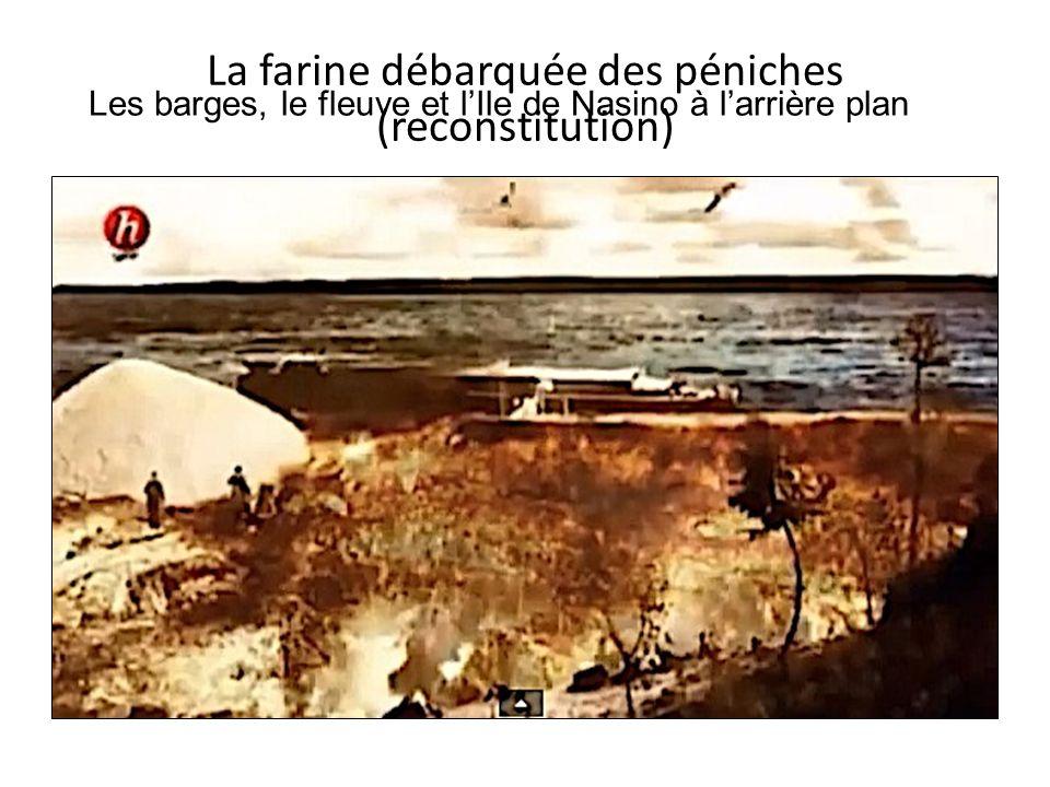 La farine débarquée des péniches (reconstitution)