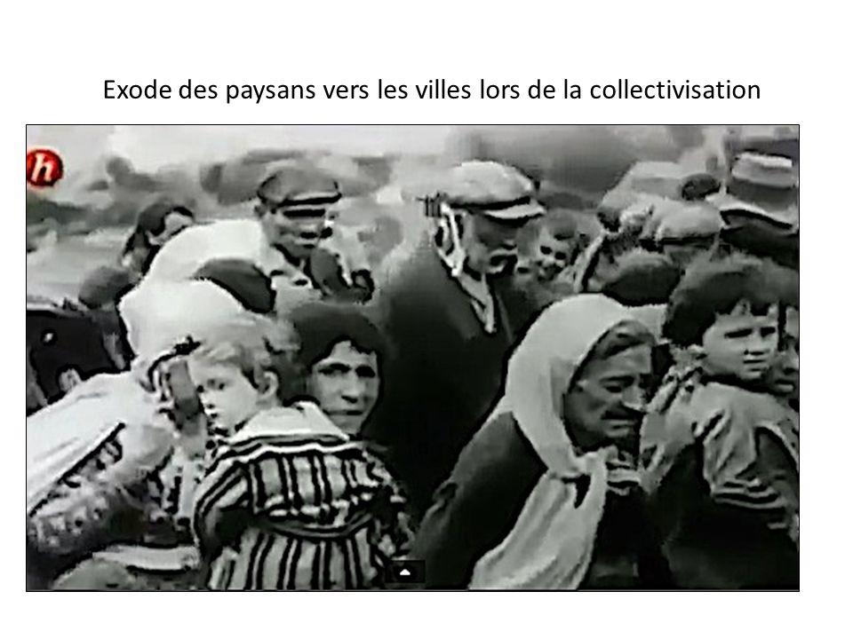 Exode des paysans vers les villes lors de la collectivisation