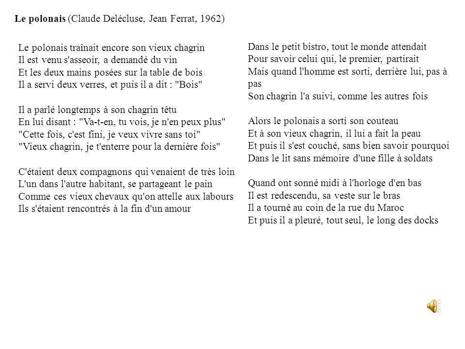 Le polonais (Claude Delécluse, Jean Ferrat, 1962)