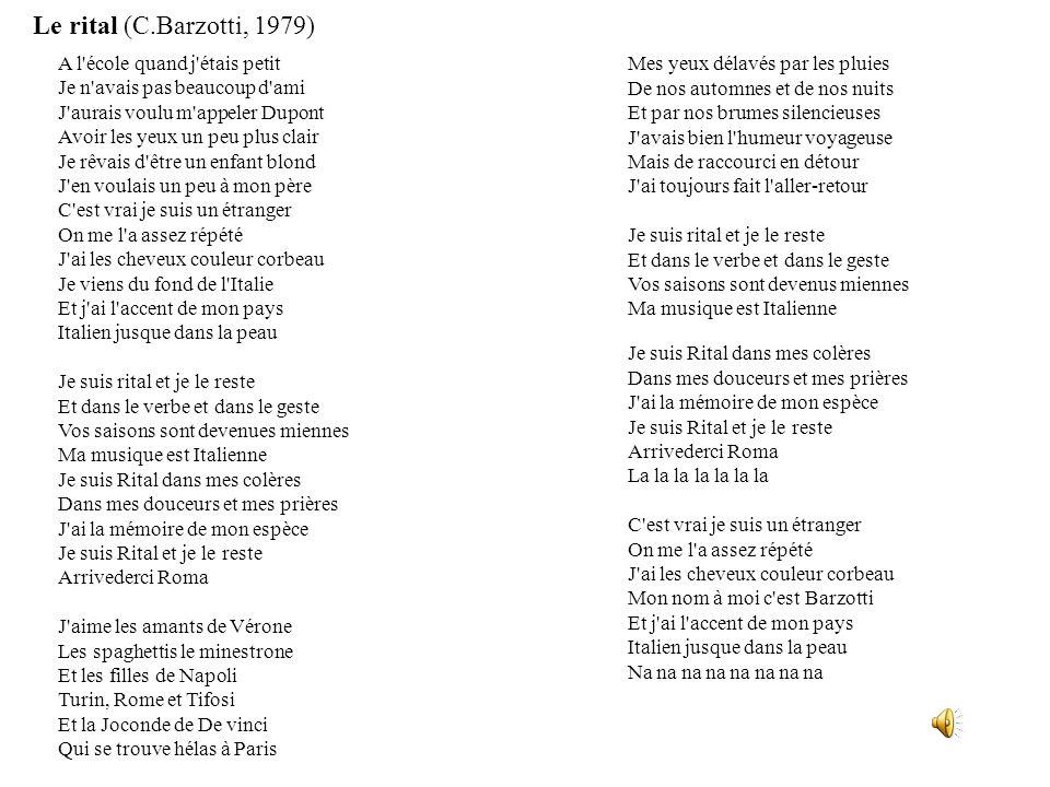 Le rital (C.Barzotti, 1979)